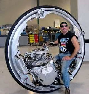 funny single wheel motorbike photo