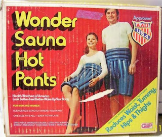 amusing funny ad for wonder sauna hot pants to reduce your waist and tummy hips and thighs photo