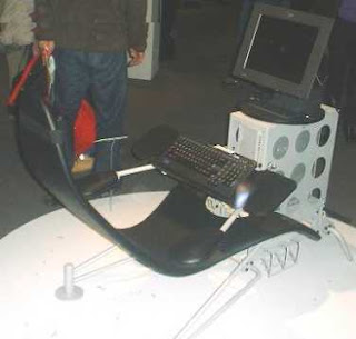 funny pic of computer chair console looks like racing car good for gamers