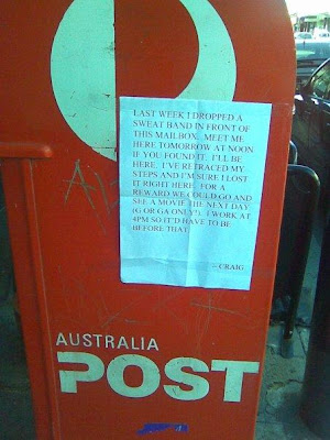 funny craig sign photos lost sweat band in prahran will take you to a movie if you found it