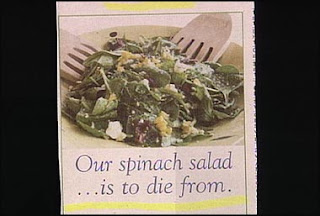 funny recipe for spinich salad to die from