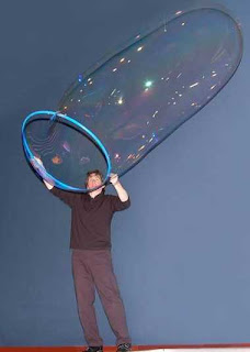 funny balloon bubble in the shape of a condom really big