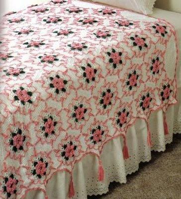 Edivana Croche: Colcha com Flores