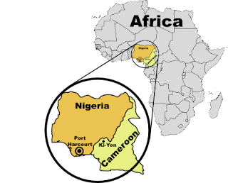 [Map: Nigeria and Cameroon]