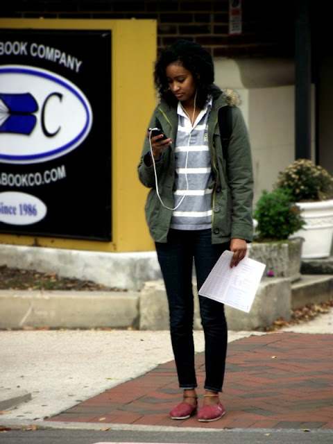 military jackets on girls, street style richmond, RVA fashion, southern fashion, southern street style, toms with skinny jeans and military coats