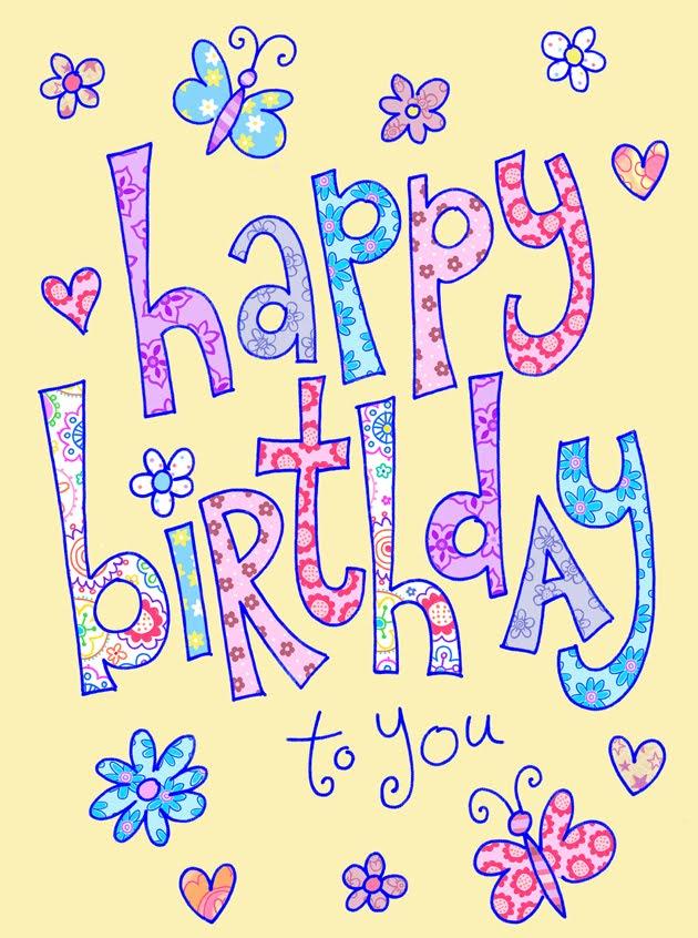 happy pretty birthday, Birthday card
