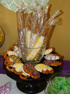 caramel dipped pretzel knots and rods - sweet cakes by rebecca