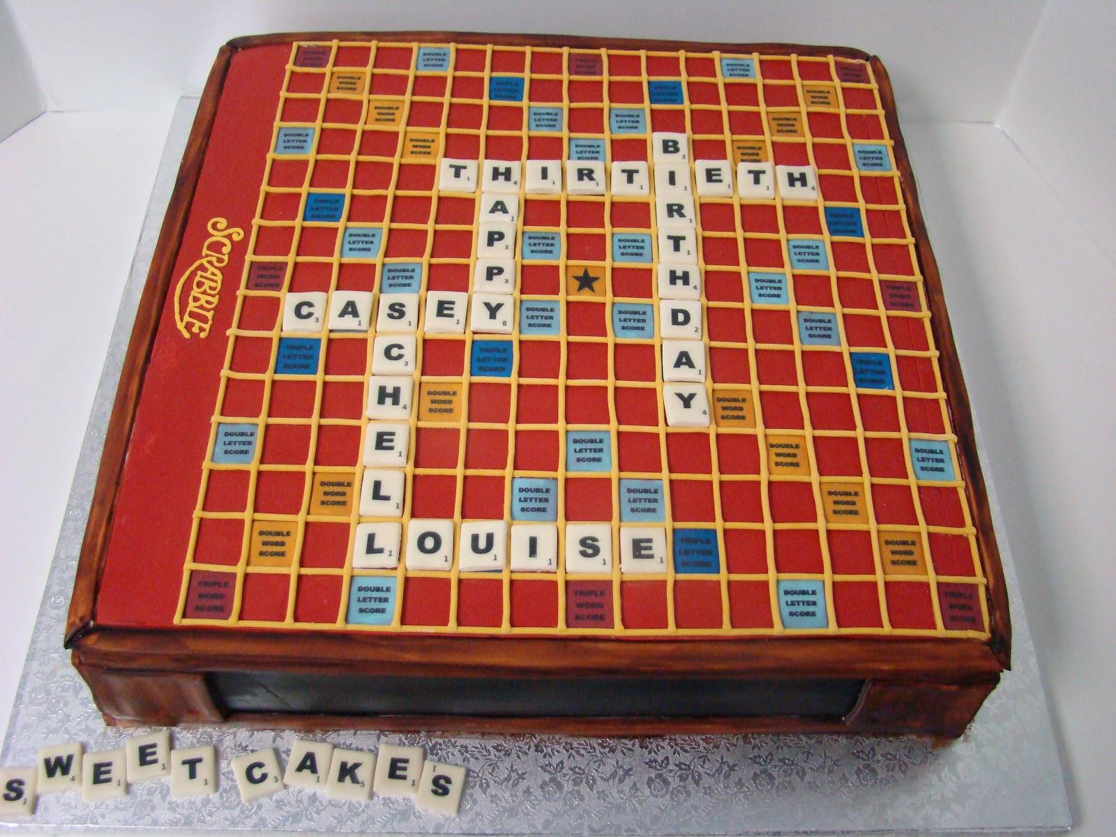 deluxe scrabble board cake