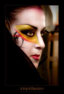 Un maquillaje profesional de bruja de blancanieves