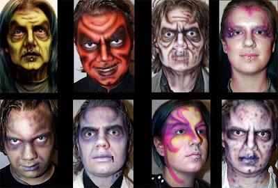maquillajes día de los muertos, calavera de azúcar, Catrina, etc
