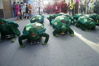 carnaval escolar: de tortuga