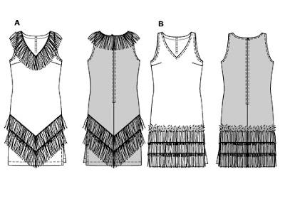 patrones básicos del vestido de charleston
