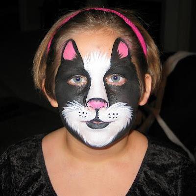 Maquillaje de gato Blanco y negro