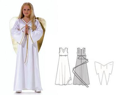 Disfraz casero y fácil de ángel para niños