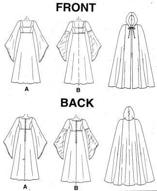 patrones capa para disfraz