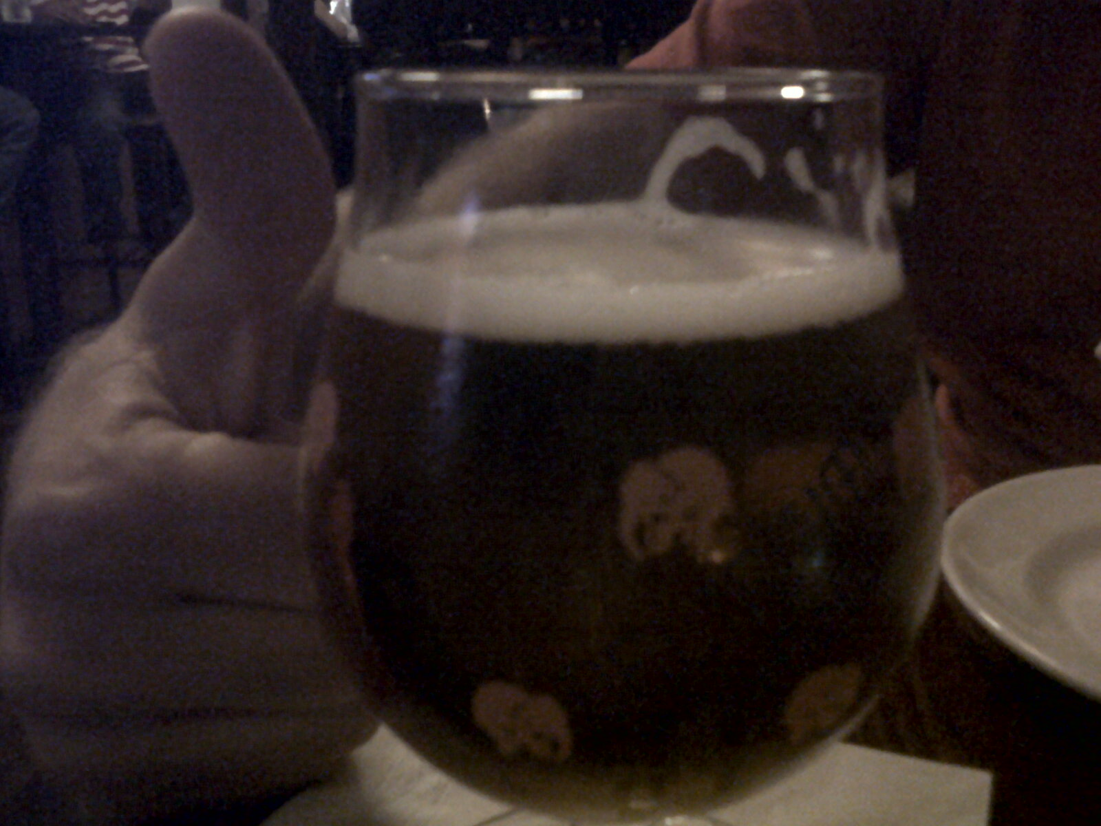 Here is B\u0027s glass of Delirium Tremens. All that extra alcohol will have you seeing pink elephants! Love the glass. I had a Magic Hat #9 which is a Vermont ... & Chat \u0027n Chu: Ben\u0027s Next Door Part I - Washington D.C.