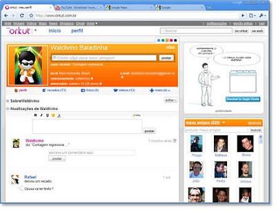 Novo Orkut de cara nova, mais cores e muito mais rápido