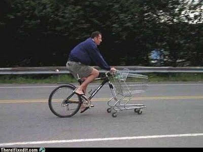 gambiarras bicicleta carrinho mercado