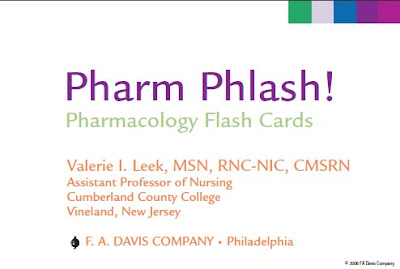 Free pharmacy books download Pharm Phlash Pharmacology Flash Cards