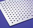 perforated sieve having holes of fixed diameter