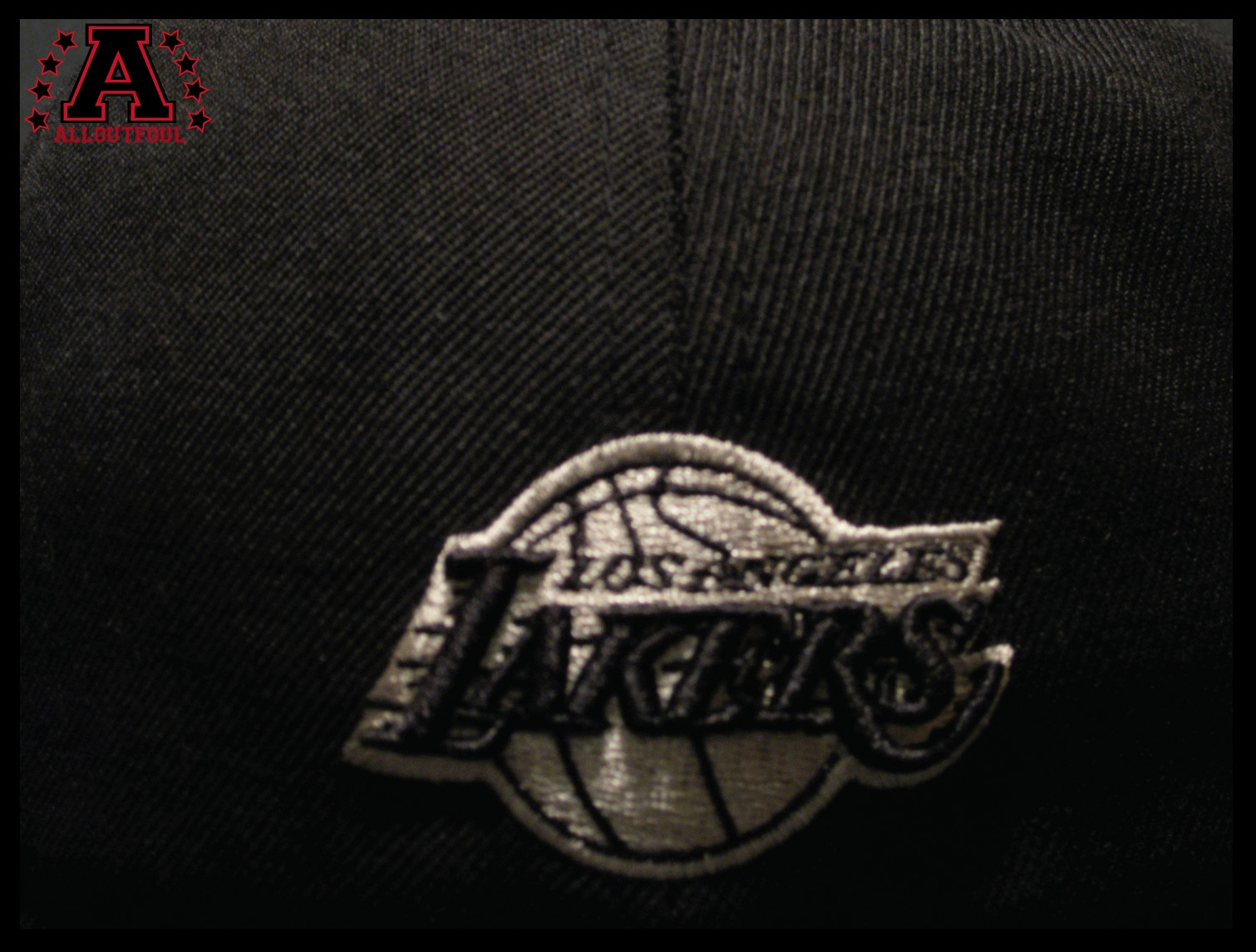 All out foul straight outta los angelenos - Black lakers logo ...