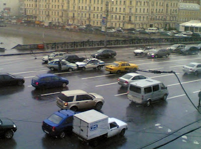 police car crash in Russia