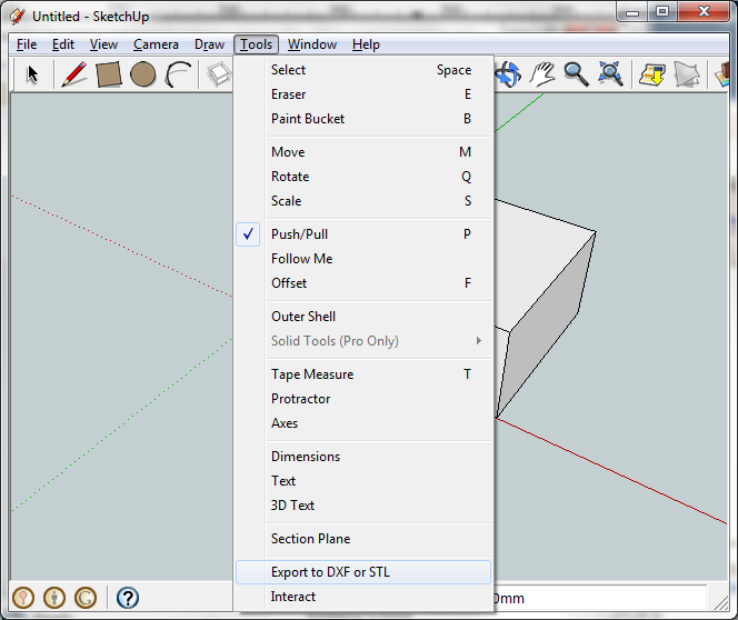 Convert google sketchup to stl for How to import stl into sketchup