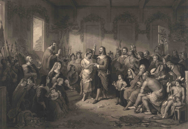 John Rolfe & Pocahontas Wedding April 14, 1614