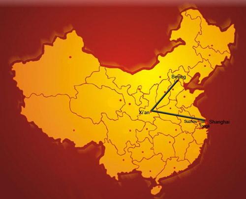 china muralla mapa de viaje
