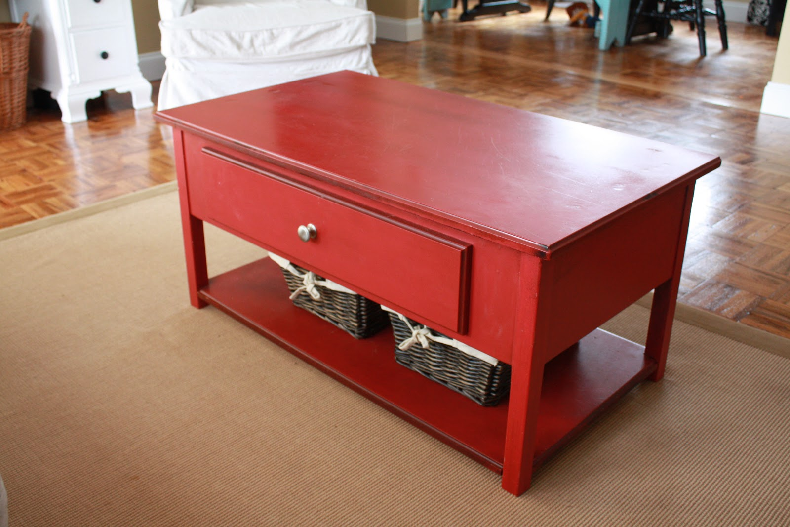 It 39 s just laine the amazing red coffee table for Amazing coffee tables