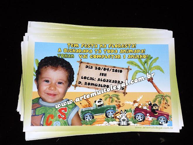 Convites infantis  temáticos e lembrancinhas de aniversário Arte muito legal