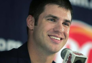 J Mauer at a press conference