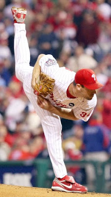 Cliff Lee while pitching for the Philadelphia Phillies last season