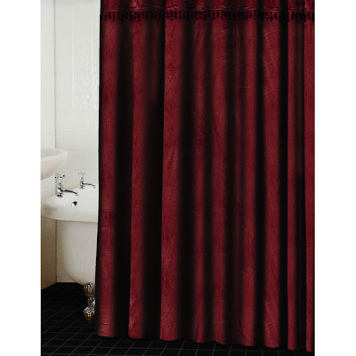 Red Shower Curtain Fabric Shower Curtain Farmhouse
