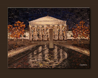 Impressionist Painting-Raleigh Memorial Auditorium-Abstract Art Paintings by Carmen Guedez - Image