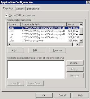 IIS 6 application configuration