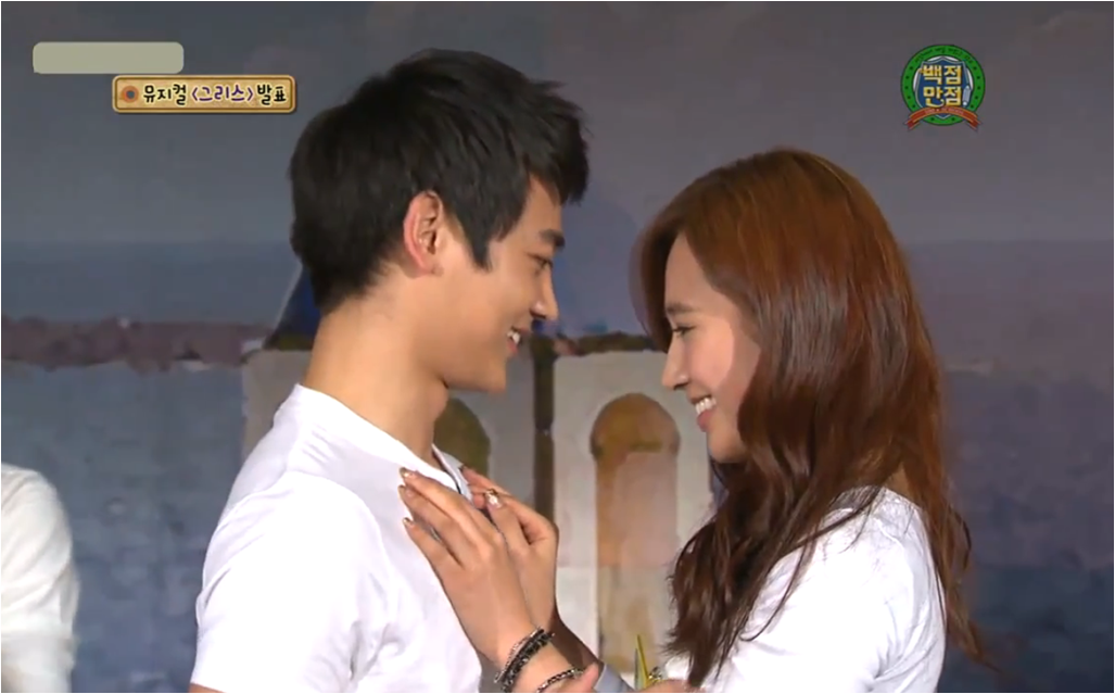 """Recently, SNSD's Yuri and SHINee's Minho acted out Grease's """"Summer ..."""