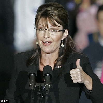 sarah palin thumb up