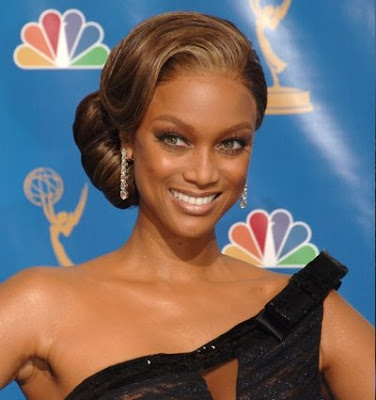 Celebrities' hairstyle -Tyra Banks' updo hairstyle