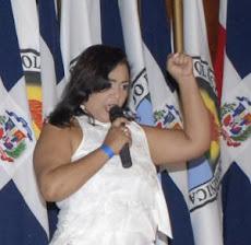 Jackeline Estévez tras vice alcaldía de SFM