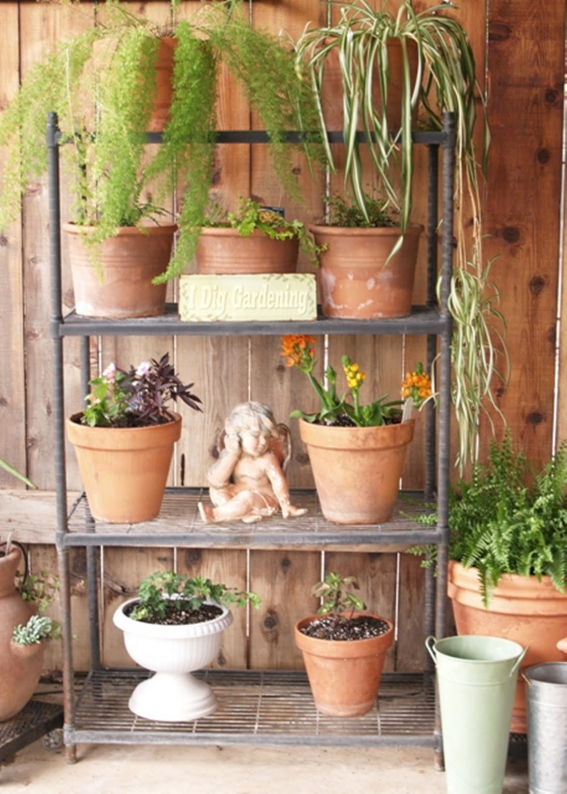 Outdoor Wooden Plant Stand Plant Stand For Outdoor Or Greenhouse Three Shelves Product Sku