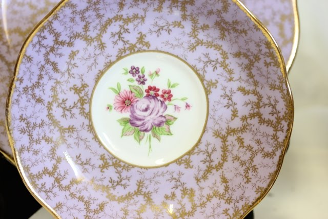 The tea cup saucer and dessert plate are \u0027Lavender\u0027 Archive Collectable Teas Royal Albert Bone China. & My Cozy Corner: Lavender Tea Cups
