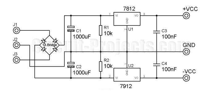b bl berbagi elektronika  catu daya regulator ganda