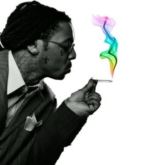 Lil Wayne Smoking Colorful Weed Playing With Fa...