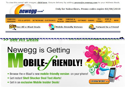 Click to view this Feb. 2, 2010 Newegg email full-sized