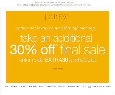 Click to view this Aug. 17 J. Crew email larger