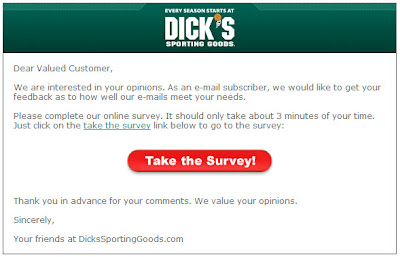 Click to view this Sept. 8 Dick's Sporting Goods email larger
