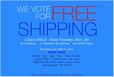 Click to view this Nov. 2 Lands' End email larger
