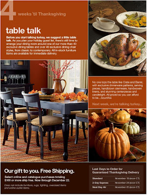Click to view this Oct. 30 Crate & Barrel email larger