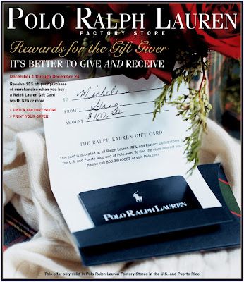 Click to view this Dec. 3, 2008 Ralph Lauren email larger